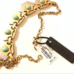 NWT J.Crew Turquoise Geometric Necklace